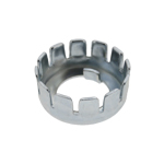 Castellated Clutch Nut Locking Tab Basket